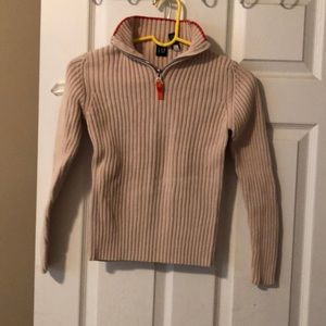 Gap zip up neck knit sweater in small